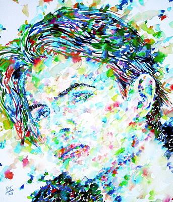 David Bowie Portrait Painting - David Bowie - Watercolor Portrait.5 by Fabrizio Cassetta