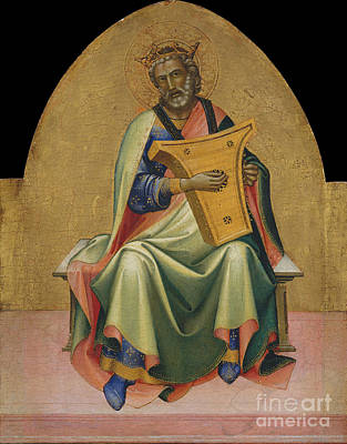 Torah Art Photograph - David By Lorenzo Monaco by MMA Gwynne Andrews and Marquand Funds