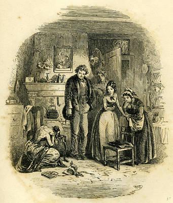 Martha Drawing - David Copperfield Martha by English School