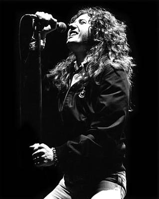 Photograph - David Coverdale by Sue Arber