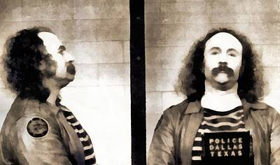 David Crosby Mugshot Art Print by Dan Sproul