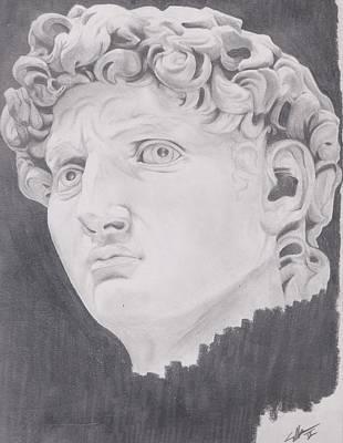David Art Print by Crosson Nipper