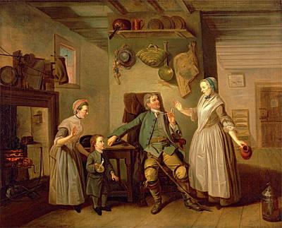 Pitcher Painting - David Garrick And Mary Bradshaw In David Garricks by Litz Collection