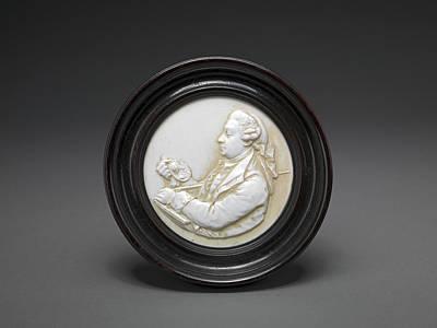 Strat Drawing - David Garrick Miniature Tassie Glass Paste Portrait by Litz Collection
