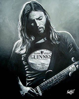 Pink Floyd Painting - David Gilmour by Tom Carlton
