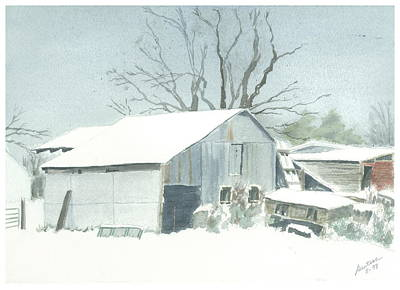 Art Print featuring the painting David Hoyles Shed by Joel Deutsch
