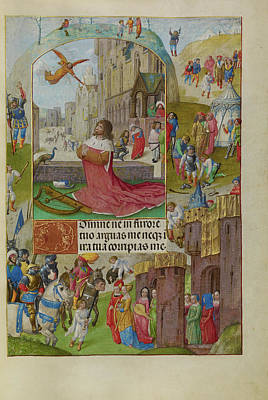 Bible Drawing - David In Prayer Master Of The Lübeck Bible Bruges by Litz Collection