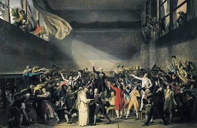 David, Jacques-louis 1748-1825. Oath Art Print