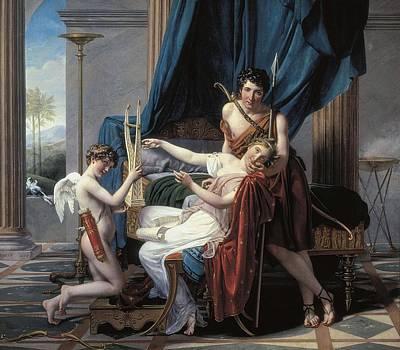 David, Jacques-louis 1748-1825. Sappho Art Print