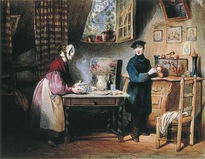 David, Jules 1808-1892. Economy. S.xix Art Print