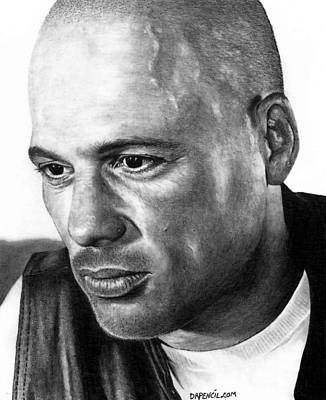 Sons Of Anarchy Drawing - David Labrava As Happy by Rick Fortson