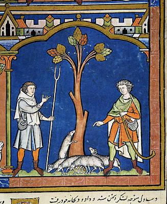 Painting - David Leaves Flock by Granger