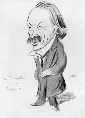 Caricature Drawing - David Lloyd George (1863-1945) by Granger