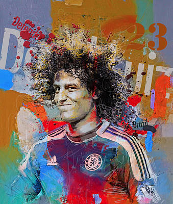Soccer Painting - David Luiz by Corporate Art Task Force