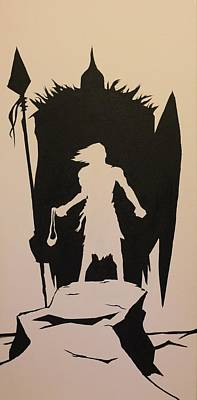David And Goliath Painting - David by Matt Sweeney