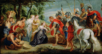 Abigail Painting - David Meeting Abigail Workshop Of Peter Paul Rubens by Litz Collection