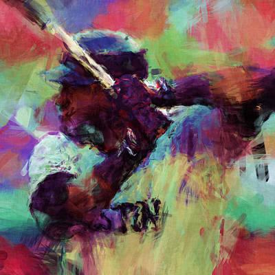 David Ortiz Abstract Art Print by David G Paul