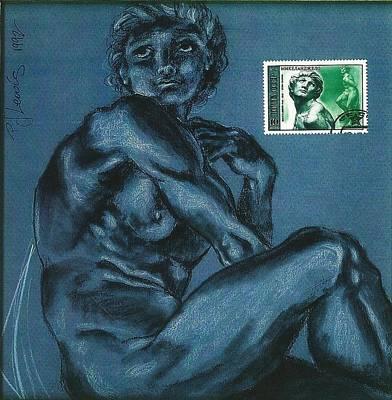 Stamps Drawing - David by P J Lewis