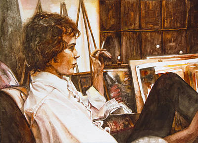 White Shirt Painting - David by Patricia Allingham Carlson