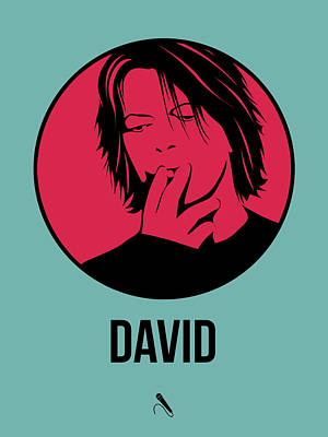 David Bowie Digital Art - David Poster 3 by Naxart Studio