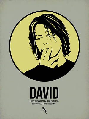 David Bowie Digital Art - David Poster 4 by Naxart Studio
