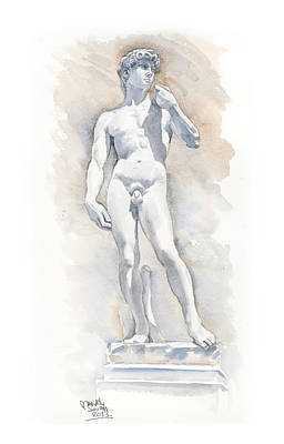 David Sculpture By Michelangelo Print by Maddy Swan