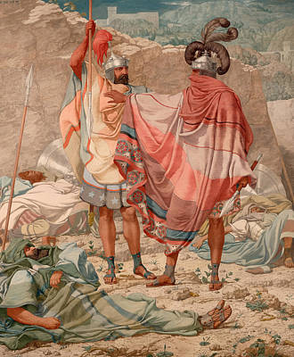 Christian Artwork Painting - David Sparing Saul's Life by Mountain Dreams
