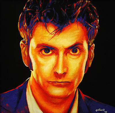 Painting - David Tennant by Glenn Pollard