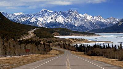 Photograph - David Thompson Highway Alberta by Daniel Woodrum