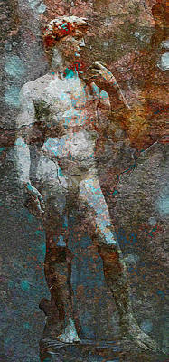 Michaelangelos David Mixed Media - David by Vijit Pillai