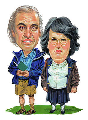 Little People Painting - David Walliams And Matt Lucas As George And Sandra by Art