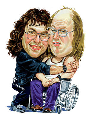 Comics Royalty-Free and Rights-Managed Images - David Walliams and Matt Lucas as Lou and Andy by Art