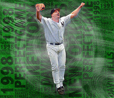 Yankee Stadium Painting - David Wells Yankees Perfect Game 1998 by Tony Rubino