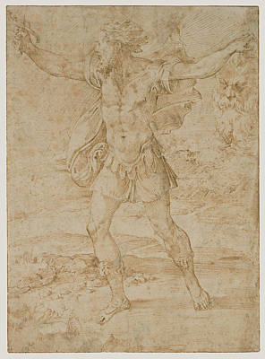 Goliath Drawing - David With The Head Of Goliath Parmigianino Francesco by Litz Collection