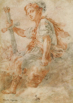 Goliath Drawing - David With The Head Of Goliath Recto,  Two Studies by Litz Collection