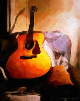 Painting - David's Guitar by Melody McBride