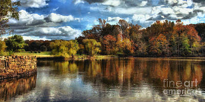 Davidson Mill Pond 2 Art Print by Louise Reeves