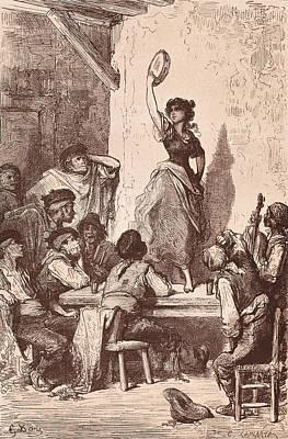 Gipsy Photograph - Davillier, Jean Charles 1823 - 1883 by Everett