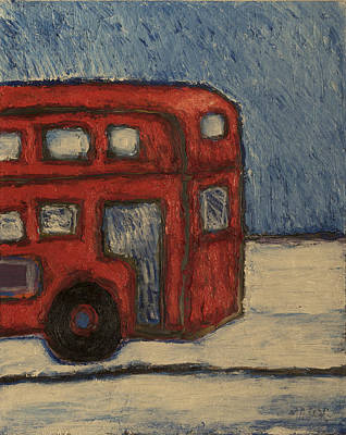 Print featuring the painting Davis Unitran Bus by Clarence Major