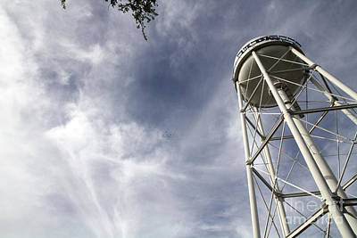 Uc Davis Photograph - Davis Water Tower by Juan Romagosa