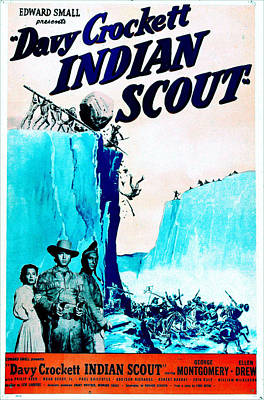 Fringe Jacket Photograph - Davy Crockett Indian Scout, Us Poster by Everett
