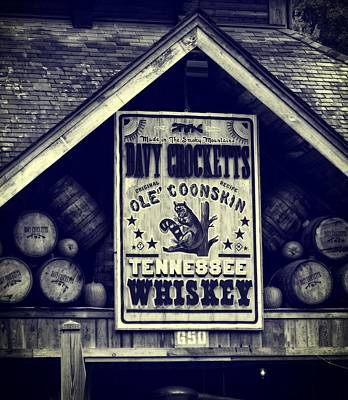 Davy Crocketts Tennessee Whiskey Art Print by Dan Sproul