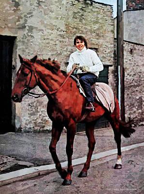 Rocker Drawing - Davy Jones On Horseback by Suzanne Gee