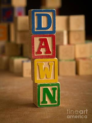 Photograph - Dawn - Alphabet Blocks by Edward Fielding