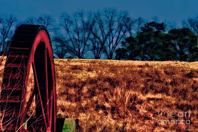 Photograph - Dawn And The Water Wheel by Lesa Fine