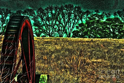 Photograph - Dawn And The Waterwheel Green by Lesa Fine