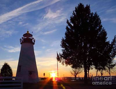 Dawn At Concord Point Lighthouse Art Print by Rrrose Pix