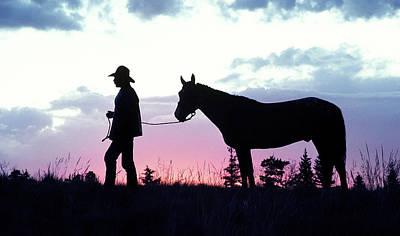 Cowboys Photograph - Dawn At Cow Camp by Buddy Mays