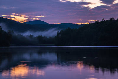 Art Print featuring the photograph Dawn At Julian Price Lake by Serge Skiba