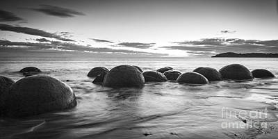 Photograph - Dawn At Moeraki Boulders by Colin and Linda McKie